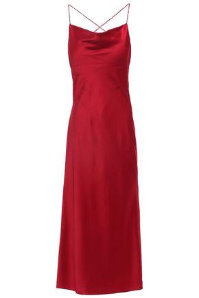 JASON WU Open-back draped crepe de chine midi slip dress