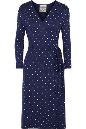 BAUM UND PFERDGARTEN Jillien polka-dot stretch-jersey wrap dress