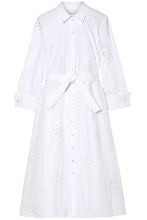 CAROLINA HERRERA Broderie anglaise cotton shirt dress