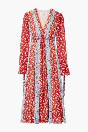 CAROLINA HERRERA Printed fil coupé chiffon midi dress