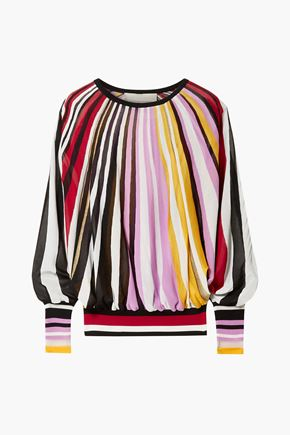 CAROLINA HERRERA Metallic striped knitted sweater