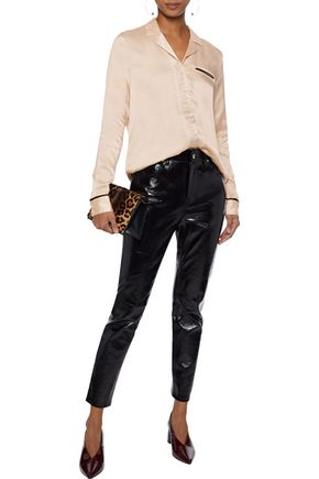 J Brand Woman Satin-Twill Shirt Blush