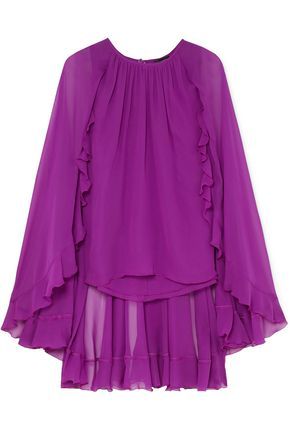 GIAMBATTISTA VALLI Cape-effect silk-chiffon top