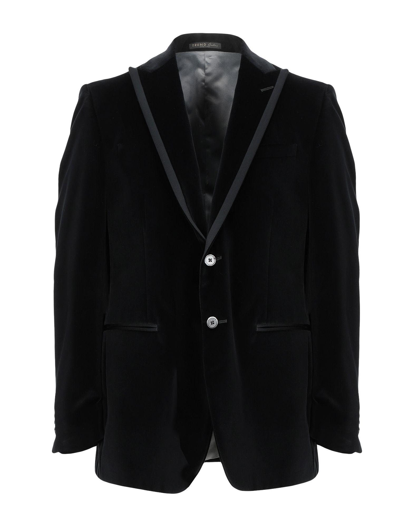《期間限定セール開催中!》TREND CORNELIANI メンズ テーラードジャケット ブラック 54 コットン 100%