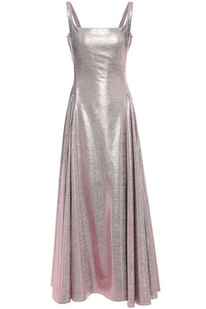 EMILIA WICKSTEAD Adettine pleated lamé gown