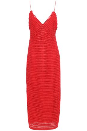 MAGDA BUTRYM Oviedo cotton and leather woven midi slip dress