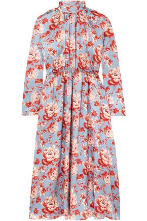 MAGDA BUTRYM Viseu floral-print silk-jacquard midi dress