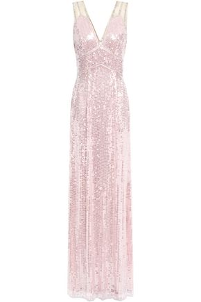 JENNY PACKHAM Bead-embellished sequined tulle gown