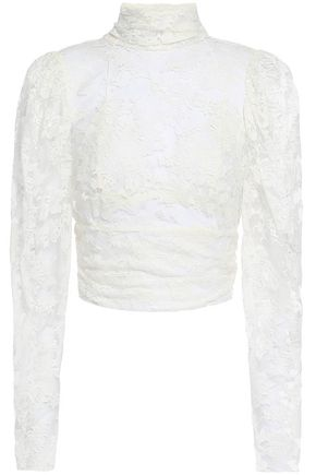MAGDA BUTRYM Noto cutout tie-back cotton-blend lace top