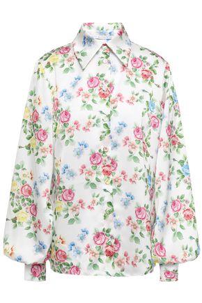 EMILIA WICKSTEAD Petula floral-print hammered-satin shirt