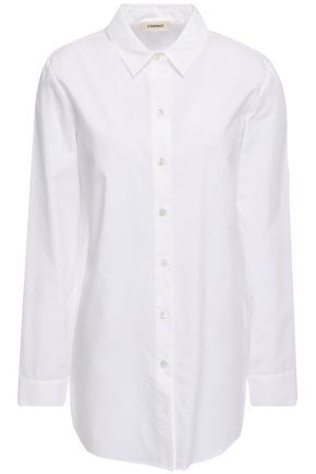 L'AGENCE Layla split-back cotton-poplin shirt