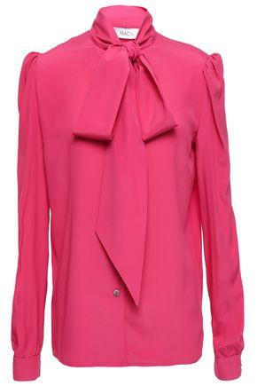 RACIL Doris pussy-bow crepe de chine blouse