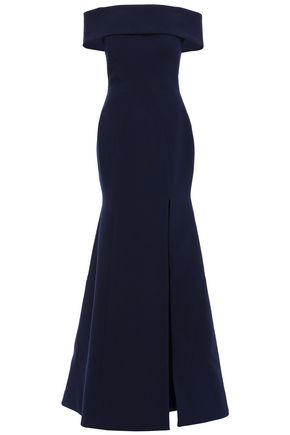 RACHEL GILBERT Hadley off-the-shoulder cutout  ponte gown