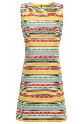 """ALICE + OLIVIA فستان قصير """"كولي"""" من الجاكار المصنوع من مزيج القطن"""
