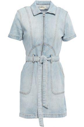 ALICE + OLIVIA Belted denim mini dress