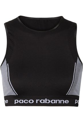PACO RABANNE Paneled stretch-jersey sports bra