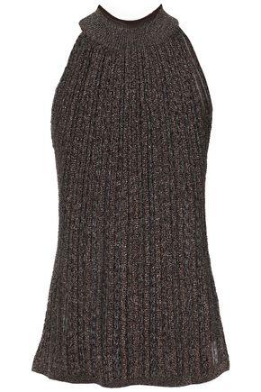 MISSONI Metallic ribbed-knit top