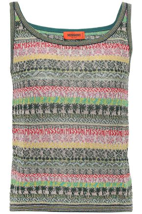 MISSONI Metallic jacquard-knit tank