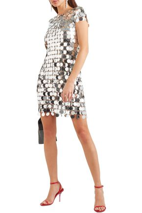 Paco Rabanne Dresses PACO RABANNE WOMAN CHAINMAIL MINI DRESS SILVER