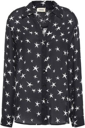 L'AGENCE Nina printed silk crepe de chine shirt