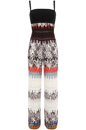 ミッソーニ メタリックウール混かぎ針編み ジャンプスーツ