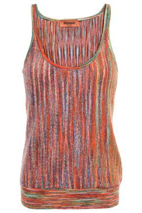 MISSONI Bouclé-knit wool-blend tank