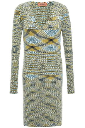 MISSONI Intarsia cashmere mini dress