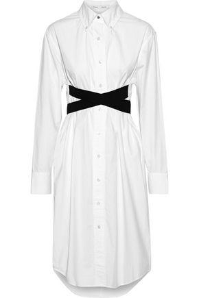 PROENZA SCHOULER Belted cotton-poplin shirt dress