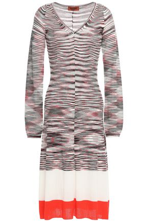 MISSONI Intarsia wool-blend dress