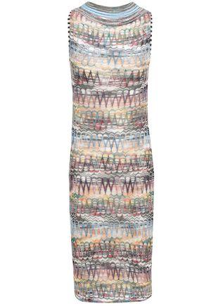 ミッソーニ かぎ針編みニット シースドレス