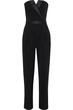 IRIS & INK + Julia Restoin Roitfeld Mickey satin-trimmed stretch-cady jumpsuit