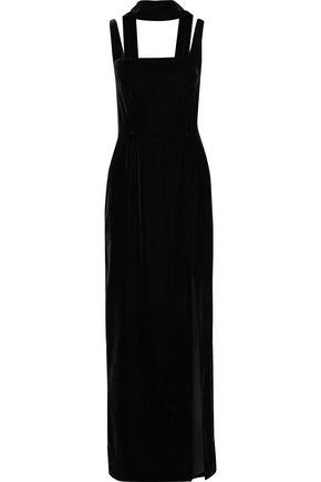 IRIS & INK + Julia Restoin Roitfeld Romy velvet maxi dress