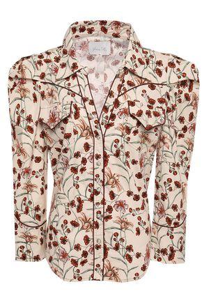JOHANNA ORTIZ Florecer floral-print stretch-cotton poplin shirt
