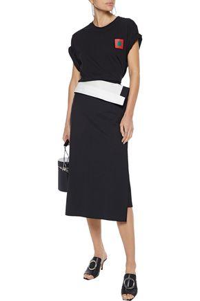 Proenza Schouler Shirts PROENZA SCHOULER PSWL WOMAN PRINTED COTTON-JERSEY T-SHIRT BLACK