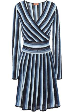 MISSONI Striped crochet-knit wool-blend dress