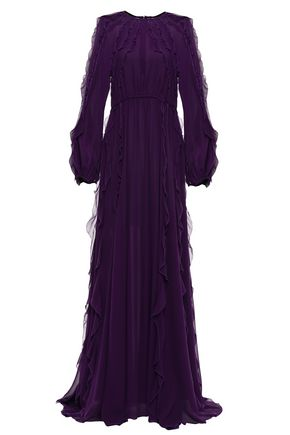 GIAMBATTISTA VALLI Ruffled silk-georgette maxi dress