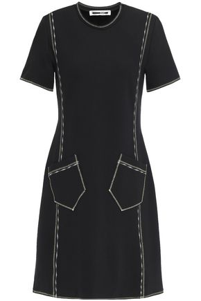 McQ Alexander McQueen Embroidered jersey mini dress