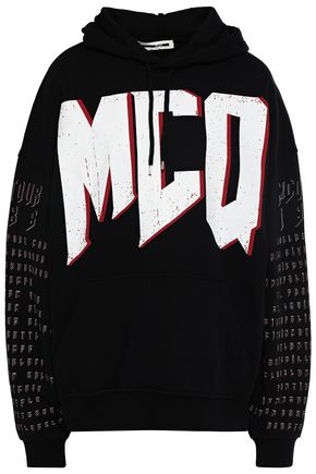 McQ Alexander McQueen Oversized printed French cotton-terry hoodie