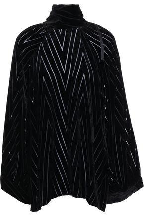 NILI LOTAN Velvet devoré blouse