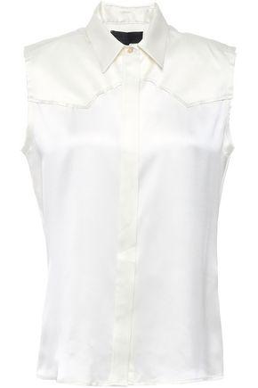 NILI LOTAN Brayden silk-satin blouse