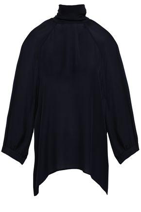 NILI LOTAN Elianna tie-back silk crepe de chine blouse