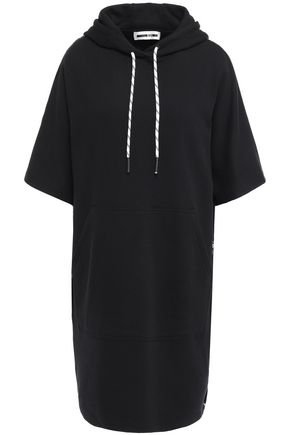 McQ Alexander McQueen French cotton-terry hooded dress