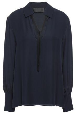 NILI LOTAN Anette silk-crepe blouse