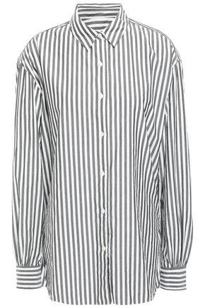 NILI LOTAN Noa striped cotton-poplin shirt