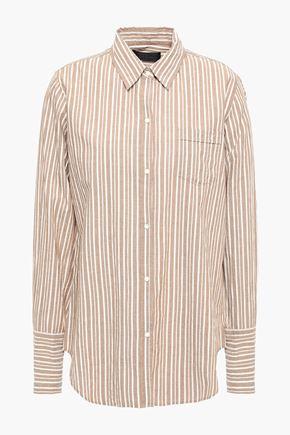 NILI LOTAN Striped cotton-poplin shirt