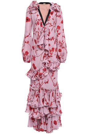 JOHANNA ORTIZ Anatolia ruffled tiered silk-crepe gown