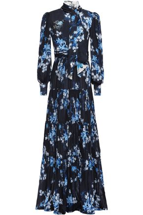 JOHANNA ORTIZ Poetic Justice cutout floral-print crepe gown
