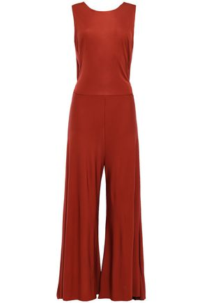 BY MALENE BIRGER Open-back jersey wide-leg jumpsuit