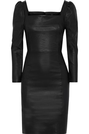 + Julia Restoin Roitfeld Nicole Gathered Leather Dress by Iris & Ink