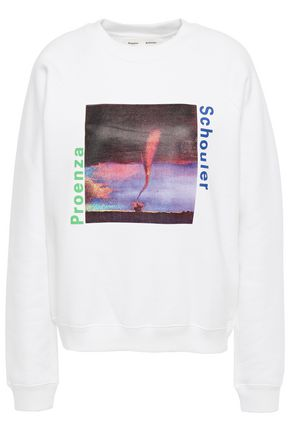 PROENZA SCHOULER PSWL Printed French cotton-terry sweatshirt